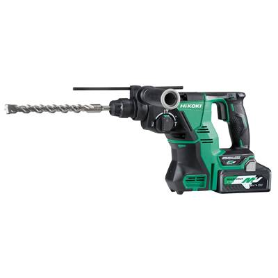 HIKOKI PERFORATEUR BURINEUR SANS FIL SDS MAX 40 MM MULTIVOLT 18-36V + 2 BATT.+ 1 CHARGEUR-EN COFFRET