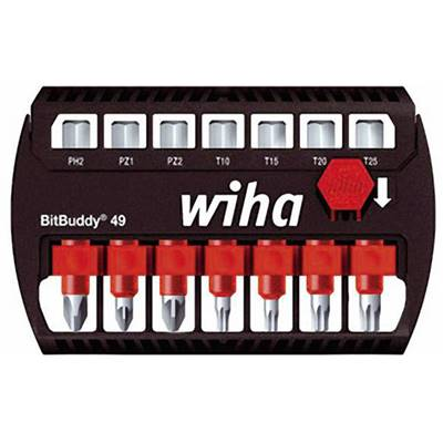 WIHA COFFRET EMBOUTS MAXTOR PH -PZ-TORX 49 MM - 7 PIECES + 1 PORTE EMBOUT